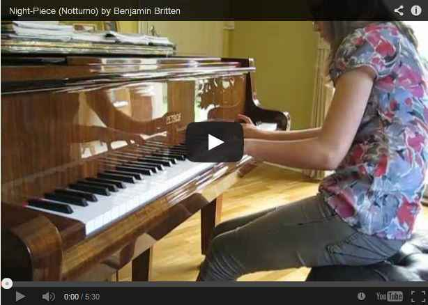 Notturno by Benjamin Britten played by Suzanna from Pinner