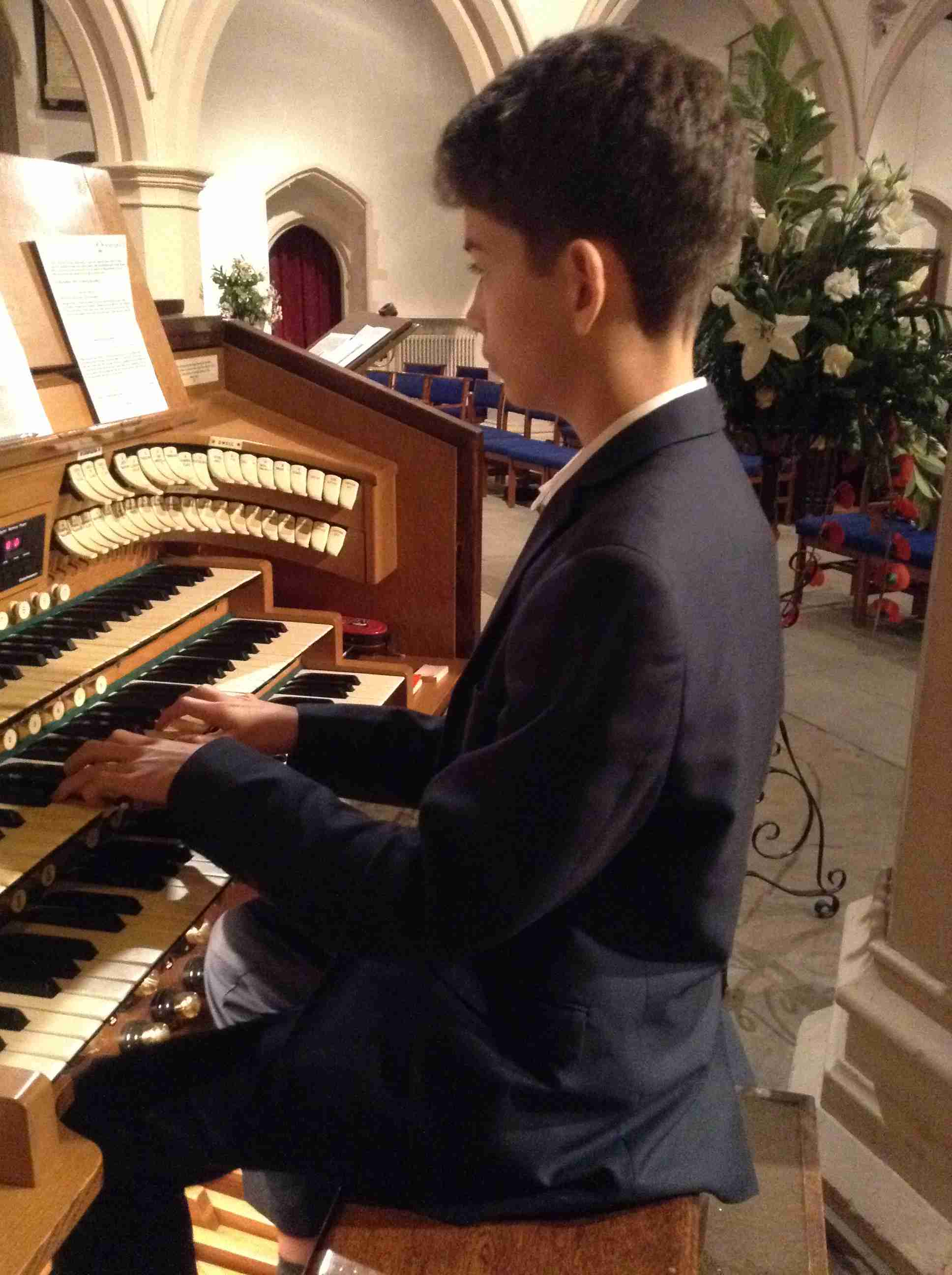 Pinner piano theory student.