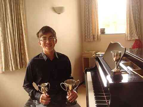 image of piano student from Northwood