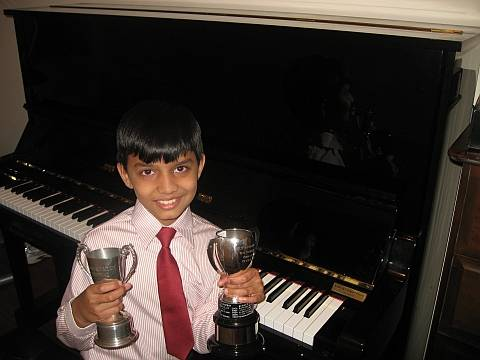 Image of piano student from uxbridge